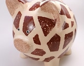 Giraffe Piggy Bank - Personalized Piggy Bank - Jungle Theme Bank - Safari Piggy Bank - with hole or NO hole in bottom