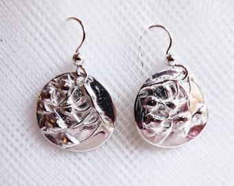 Sterling wildflower earrings, botanical jewelry, hiker gift