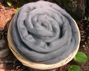 Grey Corriedale Wool Roving,Grey 4 ounces