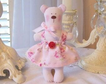 Sweet Little Pale Pink Miniature Bear for Your Blythe, Liv, Barbie, Secret Friend,etc. Great Ornament too