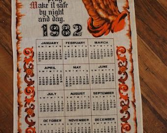 1982 Tea Towel Calendar, Bless This House, Prayer