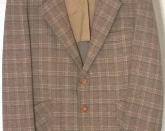 Vintage 60s 70s Jacket Blazer by Travelknit, Sears Roebuck, Union Made Amalgamated