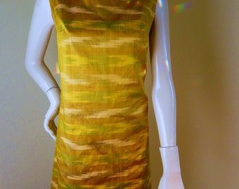 Vintage Silk dress, Sheath dress, ikat weave, bali dress