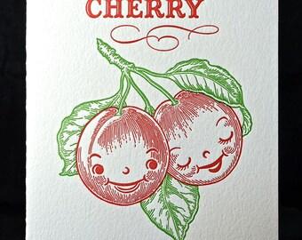 Mon Cherry I Love you Valentine card