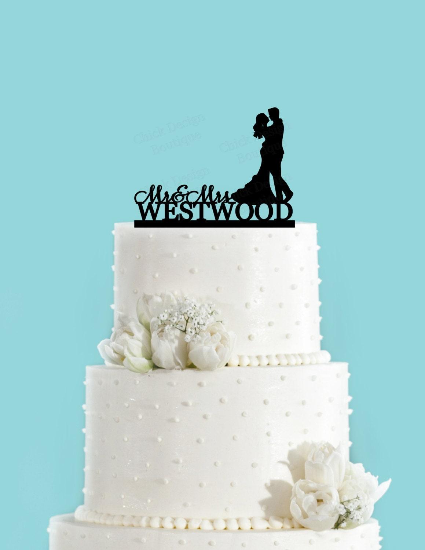 Custom Name and Couple Dancing Acrylic Wedding Cake Topper