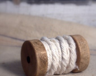 SALE! Spool of White Cotton Roping