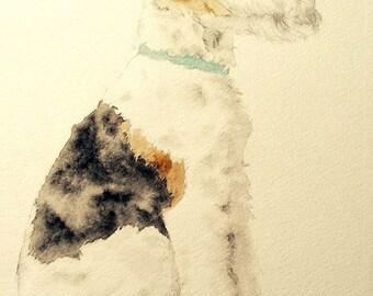 Wire Fox Terrier 5x7 print