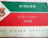 Vtg Singer Style-O-Matic Model 328 Manual 1960s