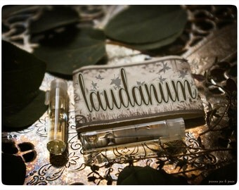 laudanum - natural perfume sampler - twin vial value pack - primary notes: apricot, figs & ivy
