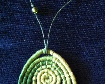 Light Green Coiled Necklace - Item 554