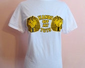 Vintage 'Hands Off My Tuts' Transfer on a New T Shirt