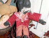 Primitive Americana Uncle Sam Black Folk Art   HAFAIR HCA