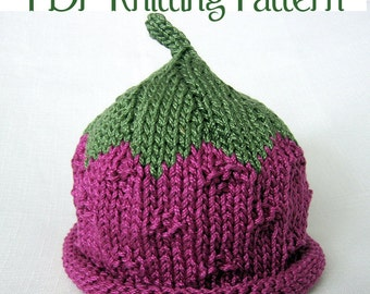 Baby Fruit and Berry Knit Pattern, three pattern set, Boston Beanies