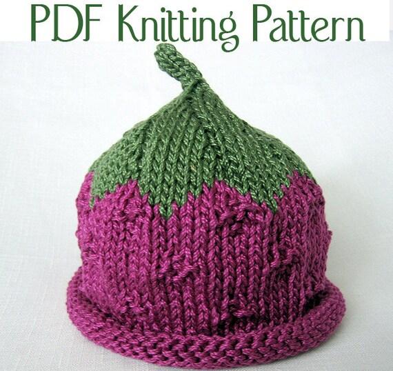 Baby Fruit and Berry Knit Pattern, three pattern set, Boston Beanies