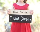 Dear Santa Christmas Prop Chalkboard for Kids Toddler Baby (Item Number MHD20064)