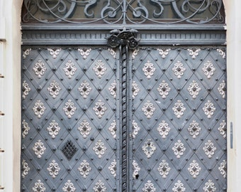 Prague Photography - Ornate Door, Architecture Travel Photography, Czech Republic, Large Wall Art, Travel Art Home Decor