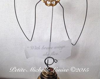 SALE Vintage Door Knob Inspiration Holder - Photo Holder- Table Number Holder