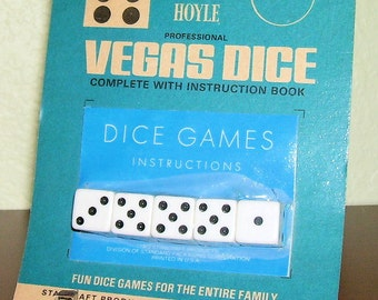 VEGAS DICE 1975 Hoyle Professional Set of 5 by Stancraft Products