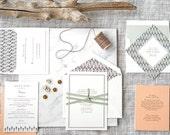 Simple Wedding Invitation, Letterpress Wedding Invitation, Wedding Invitation Suite, Winter Wedding Invitaiton