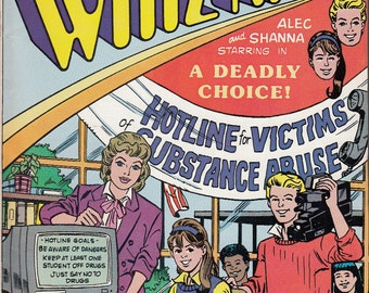 1990 Tandy Computer Whiz Kids Comic Book A Deadly Choice Cat No 68-2001