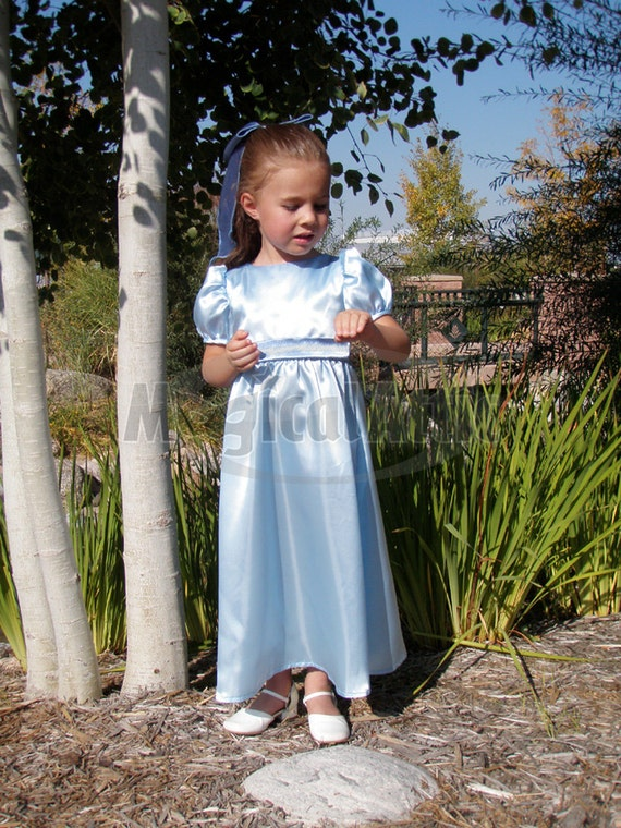 Custom Boutique WENDY Darling of Peter Pan Girl Size Costume Blue Dress