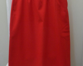 Vintage Red Pendleton Straight Virgin Wool Skirt