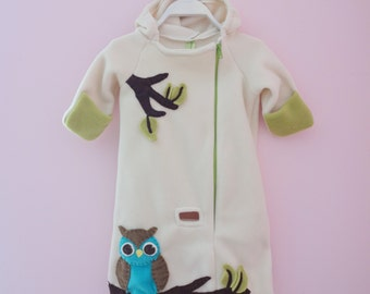 Cozy Owl Baby Bunting