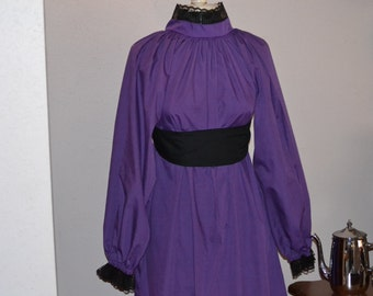 Girls Poet French Painter Purple Goth Gown Gothic Victorian Dramatic Romantic