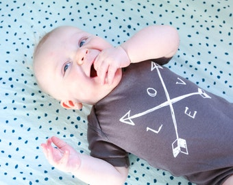 Baby Arrow Bodysuit - LOVE Arrows, Ready to Ship