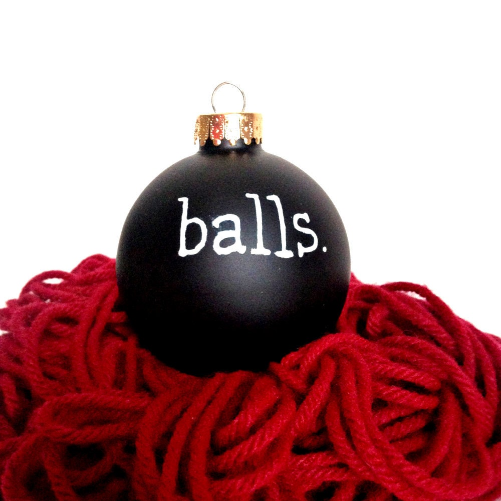 Funny christmas ornament holiday hand painted balls
