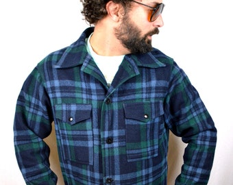 Vintage Pendleton Long Sleeved Wool Woodsman Heavy Shirt Winter Coat