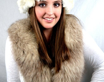 Wild 1960's White Maribou Feather Hat