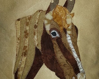 Patchwork Horse 16x16 or 18x 18 Square Pillow Cover