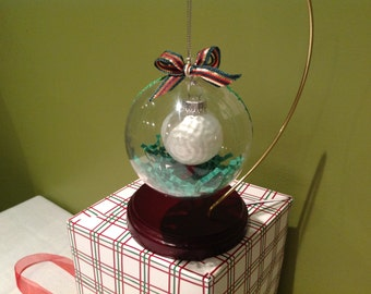 Golf Ball Holiday Ornament