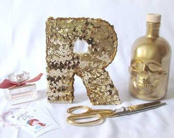 THE ORIGINAL sequin letter - gold or silver