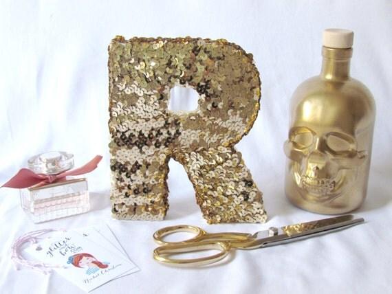 THE ORIGINAL Sequin Monogram letter - gold or silver