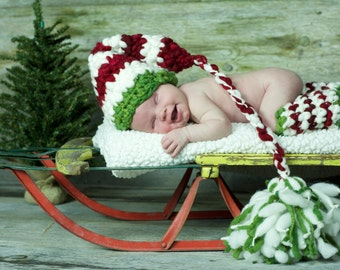 Newborn Christmas Outfit - Kids Christmas Outfit - Christmas outfit - Elf Hat and Leg Warmers - First Christmas - Christmas In July - cij