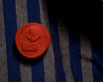 love letter wax seal lapel pin