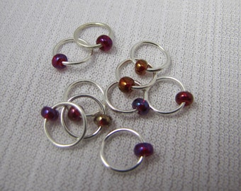 Cranberry Sauce - Ten Sock/Lace Snagless Stitch Markers