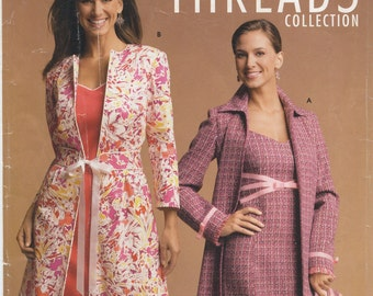 Lined Sleeveless Dress, Coat & Purse Sewing Pattern Size 6, 8, 10, 12 Simplicity 4693, Uncut, Misses Spring Dress, Spring Coat, Clutch Purse