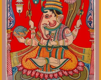 antique hindu religion illustration Ganesh DIGITAL DOWNLOAD