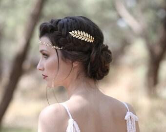 Athena Comb, Golden Leaf Bridal Comb, Bridesmaid Hair Accessories, Wedding Comb, Bridal Hair Accessories, Goddess Comb, Princess Comb
