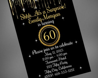 60th Birthday / 60th Invitation / 60th Birthday Invite / Printable Invitation / 60th Anniversary / 60th / 60th Invite / 60th Surprise