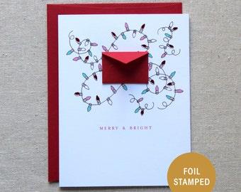 Foil stamped card | Etsy