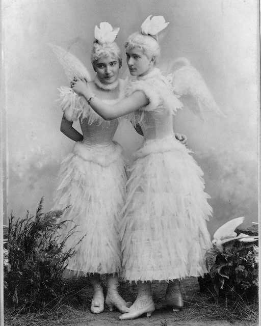 Victorian women sisters friends white dress by eclecticforest for Odd victorian names
