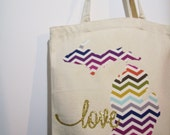 SO SASSY 'Michigan Love' Canvas Tote