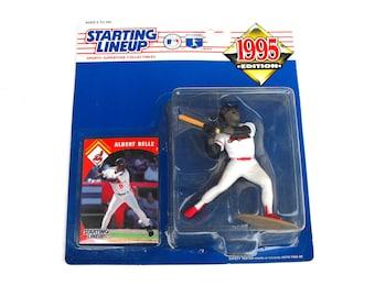 1995 Albert Belle Starting Lineup SLU Major League Baseball MLB Cleveland Indians Hasbro Kenner Figurine Figure Toy Plastic Doll