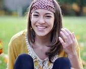 Gift for Her Head Wrap Headband Orange Hippie Headscarf Trendy Headwrap Orange Unique Head Scarf Bohemian Hair Band (#4271) S M L X