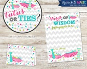 Printable Party Package - Tutus or Ties? Gender Reveal Chevron Girl or Boy INSTANT DOWNLOAD