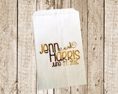 Gold Foil Printed Custom Favor bags/Candy bags/Candy Bar bags  25 count gold foil